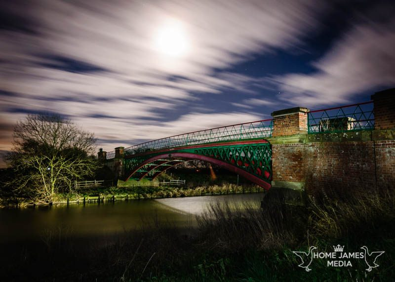 Hibaldstow Bridge by Moonlight | Lincolnshire Landscape Photography