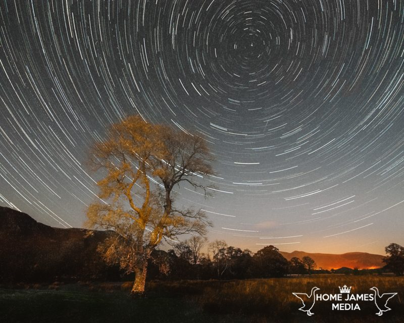 The Smithy – Borrowdale Night Photography Star Trail Ash Tree Keswick