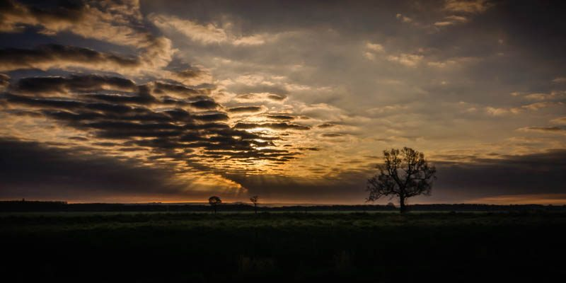 Panoramic Ancholme Sunset Lincolnshire Landscape Photography by Robin Ling