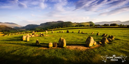 Panoramic Castlerigg Stone Circle Sunset