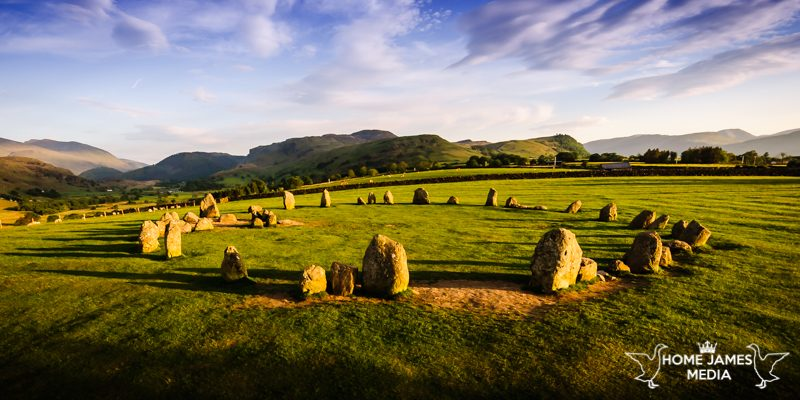 Panoramic Castlerigg Stone Circle Sunset