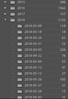 lightroom catalogue example folder structure
