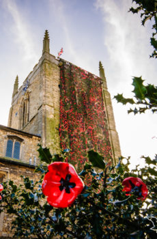 St Andrews Church Kirton in Lindsey with Poppy Cascade Remembrance Day 2018