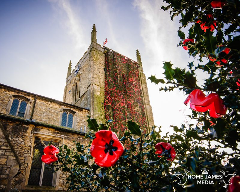St Andrews Church Kirton in Lindsey with Poppy Cascade Remembrance Day 2018 | Lincolnshire Landscape Photography by Robin Ling