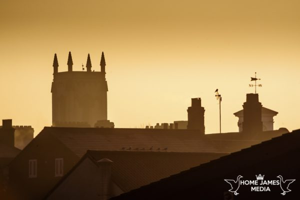 Misty Rooftops in Brigg showing St Johns Church and the Buttercross | Lincolnshire Landscape Photography by Robin Ling