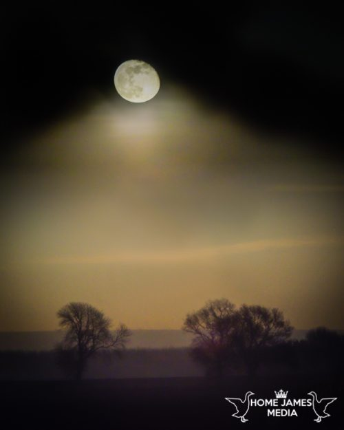 Snow Moon February 2019 taken in Lincolnshire UK | Lincolnshire Landscape Photography by Robin Ling