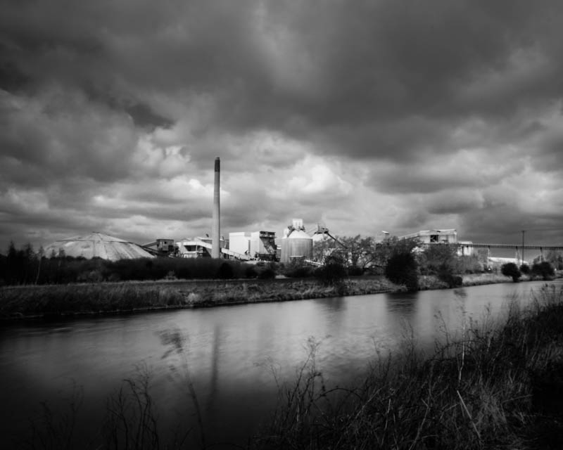 Cemex South Ferriby Cement Works Black and White